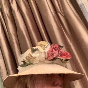 Gorgeous straw hat with flowers